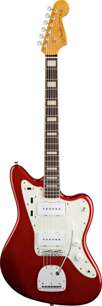 Fender Jazzmaster Japan Candy Apple Red block inlay
