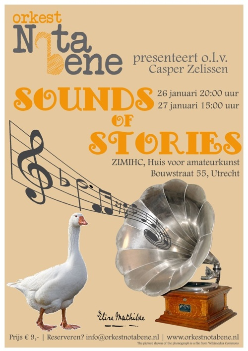 Flyer Orkest Nota Bene Sounds of Stories
