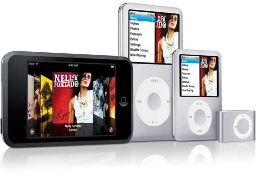 iPod line-up per 5 september 2007